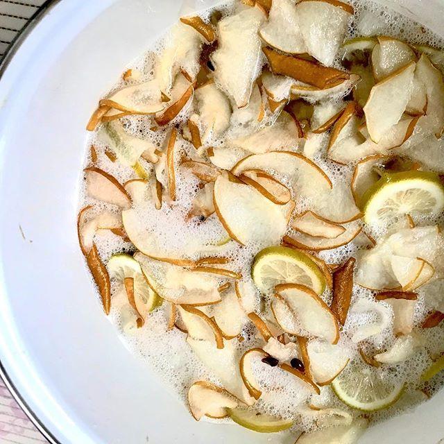 こんにちは!.秋の三連休いかがお過ごしですか?今日は、やっと秋らしい過ごしやすい日になりました。.発酵ジュースを作るのに、ちょうど良い季節の到来です!.梨は、黄痰、ねばねばした痰、咳・胸痛などに良いとされています。.梨の発酵ジュースをたっぷり作って、秋から冬の咳風邪の予防に役立ててくださね!.性味/甘味・微酸味、涼性帰経 /肺、胃効能 :清熱化痰、生津潤燥.#healthyfood #medicinalfood#fruits#健康 #ヘルシーフード#手作り酵素ジュース #発酵 #発酵フルーツ #発酵リビングフード#薬膳 #中医 #秋 #乾燥 #梨#彼ごはん #スムージー#ドードーの空@dodonosorakitchenhttps://dodonosora.jp/