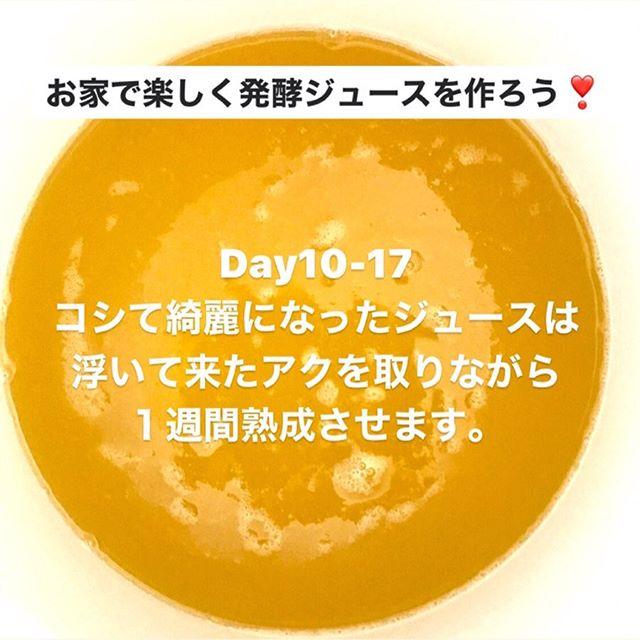 こんにちは!.#ステイホームがんばろう#発酵ジュース.手作り発酵ジュースのDay10-17コシて綺麗になったジュースは樽に戻して、更に1週間熟成させます。.熟成期間中は浮いてくるアクを丁寧に取ります。この間に味見をし過ぎると、出来上がりが少なくなるので、注意です!.#healthyfood#medicinalfood#fruits#miso#日本を元気にするご飯#ヘルシーフード#手作り発酵ジュース #発酵 #発酵フルーツ #発酵リビングフード#温活 #イライラ #ストレス緩和#薬膳 #中医 #手作り味噌体験#発酵麹調味料 #発酵麹調味料マイスター#くらし薬膳プランナーhttps://dodonosora.jp/https://chuigaku-cocokara.jp/magazine/cook/
